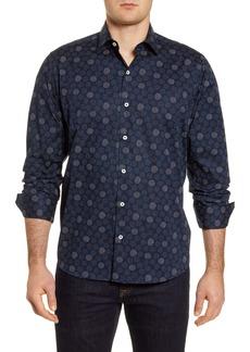 Bugatchi Classic Fit Stretch Button-Up Shirt