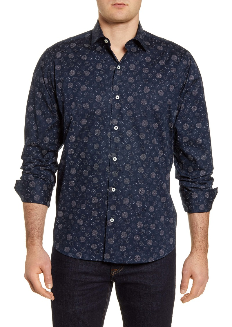 Bugatchi Classic Fit Stretch Button-Up Shirt