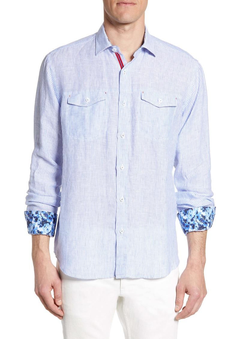 Bugatchi Classic Fit Stripe Shirt