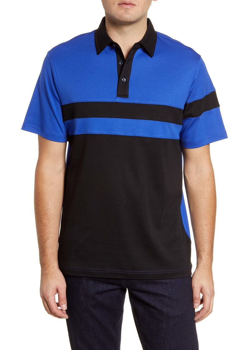 Bugatchi Colorblock Jersey Polo
