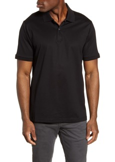 Bugatchi Contrast Collar Back Short Sleeve Polo