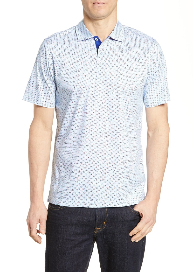 Bugatchi Regular Fit Print Polo
