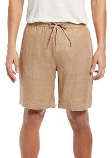 Bugatchi Drawstring Linen Shorts