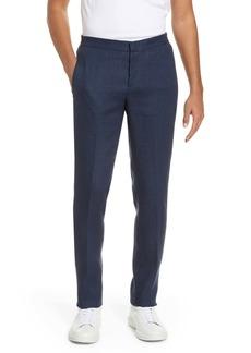 Bugatchi Flat Front Linen Pants