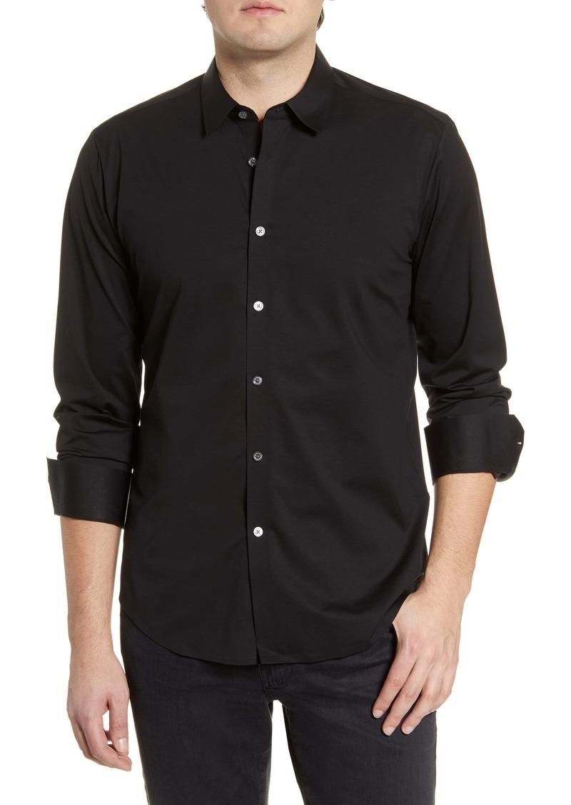 Bugatchi Knit Button-Up Shirt
