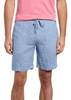 Bugatchi Men's Drawstring Linen Shorts