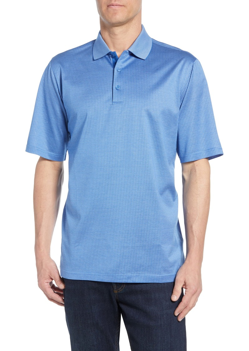 Bugatchi Microcheck Performance Polo