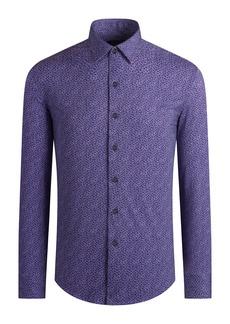 Bugatchi OoohCotton® Regular Fit Tech Knit Button-Up Shirt