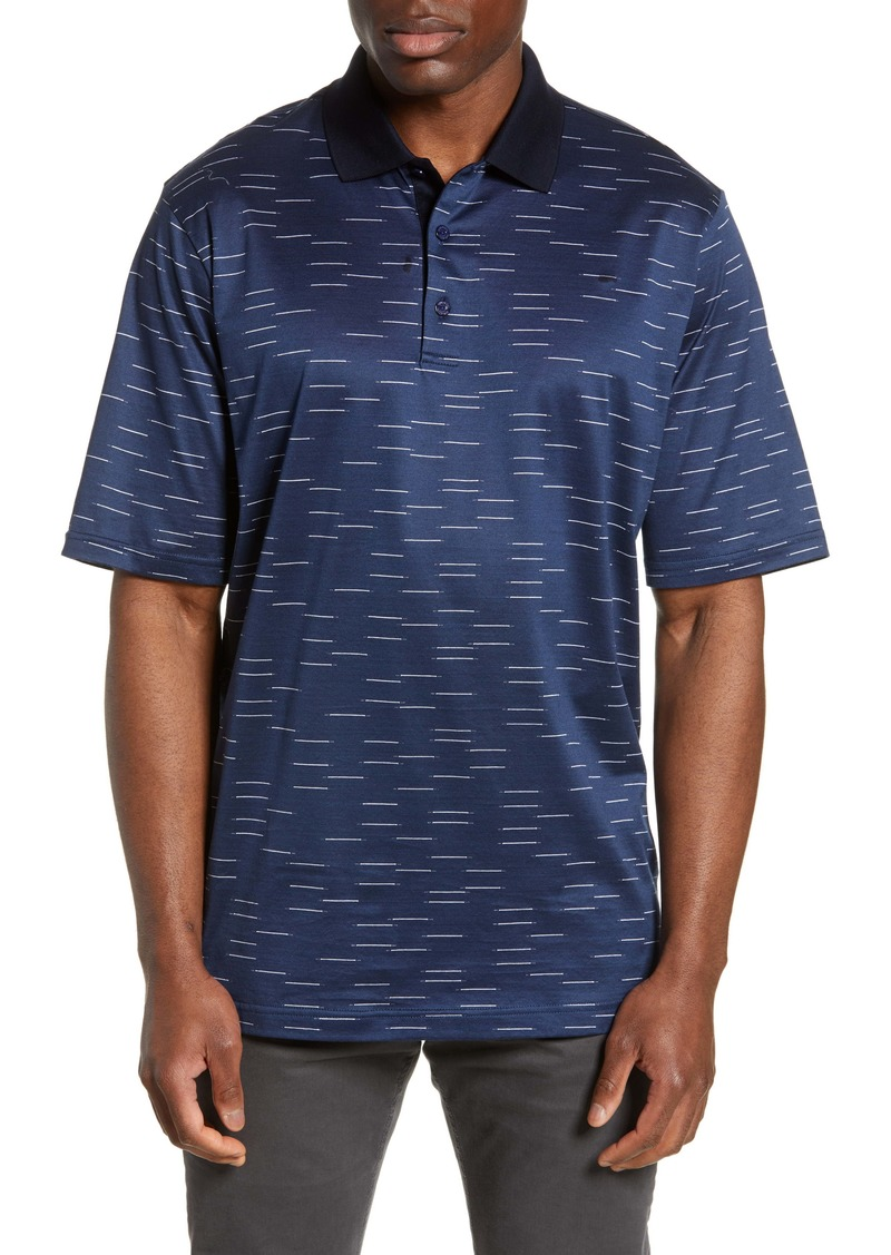 Bugatchi Patterned Mercerized Jersey Polo