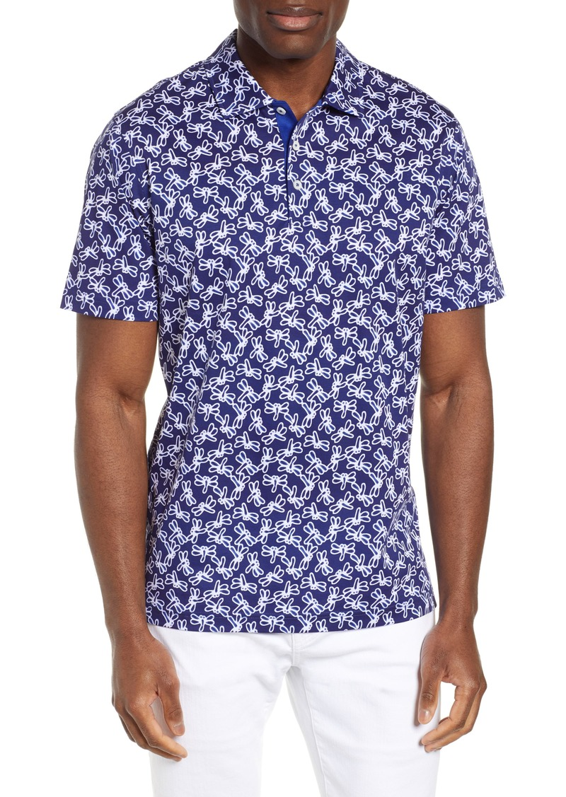 Bugatchi Regular Fit Digital Print Polo