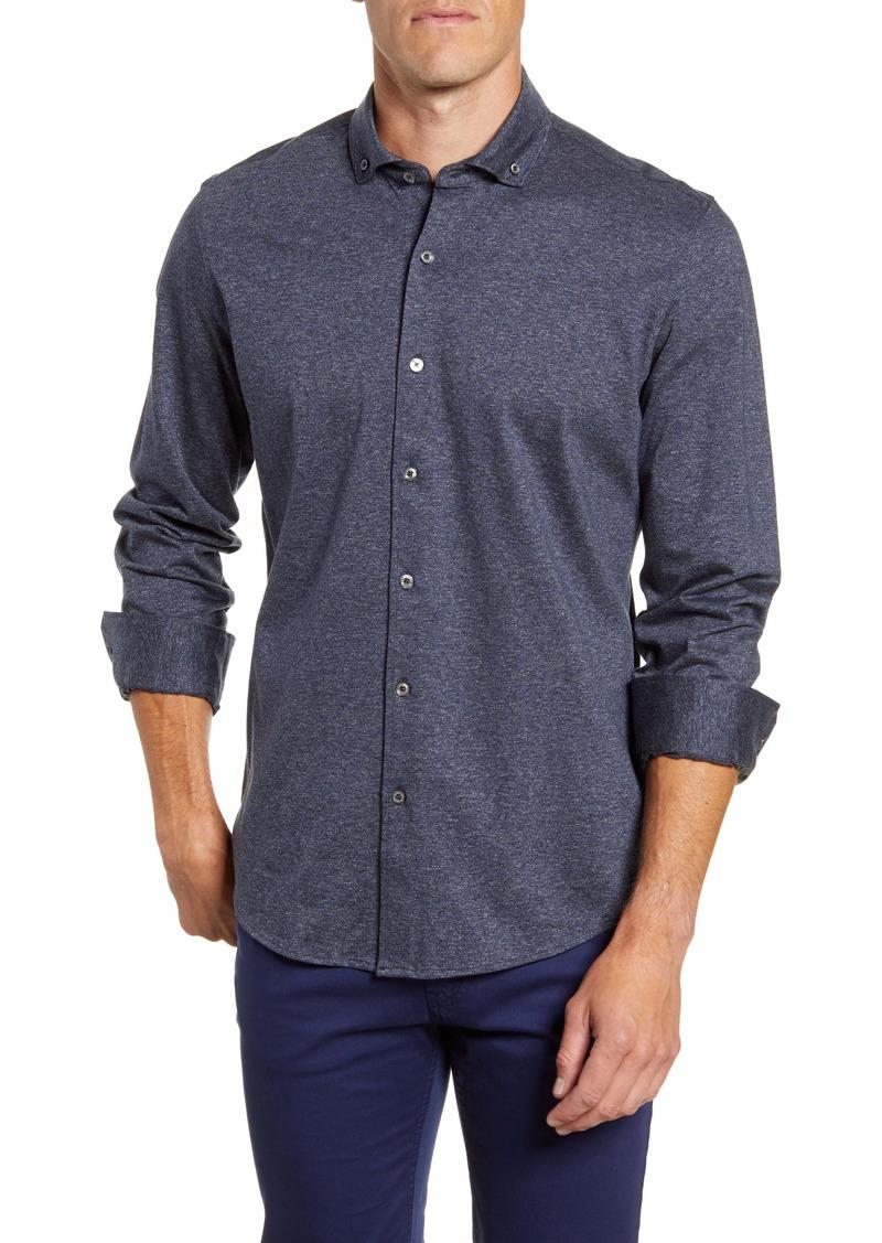 Bugatchi Regular Fit Knit Button-Down Shirt