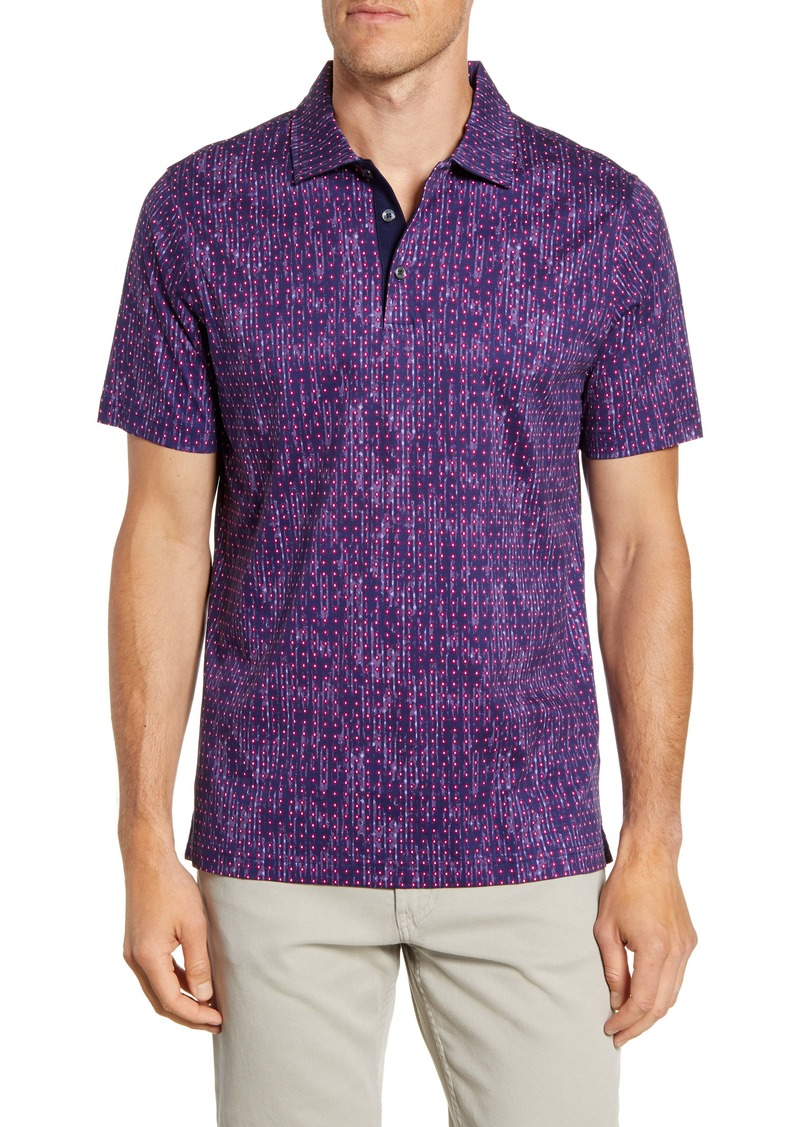 Bugatchi Regular Fit Mercerized Cotton Polo