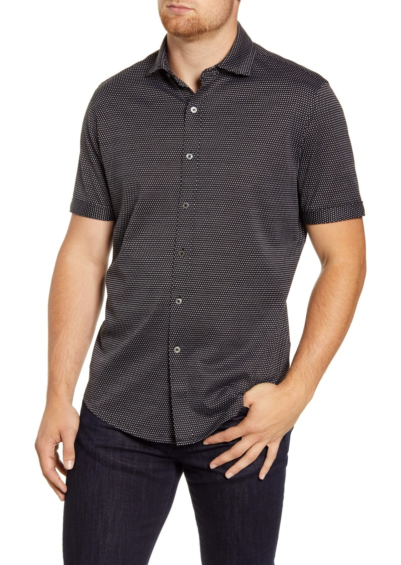 Bugatchi Regular Fit Short Sleeve Button-Up Shirt