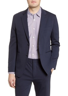 Bugatchi Regular Fit Solid Stretch Cotton Blend Blazer