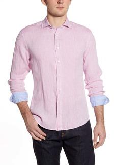 Bugatchi Shaped Fit Button-Up Linen Shirt