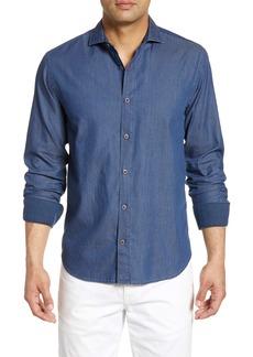 Bugatchi Shaped Fit Button-Up Shirt