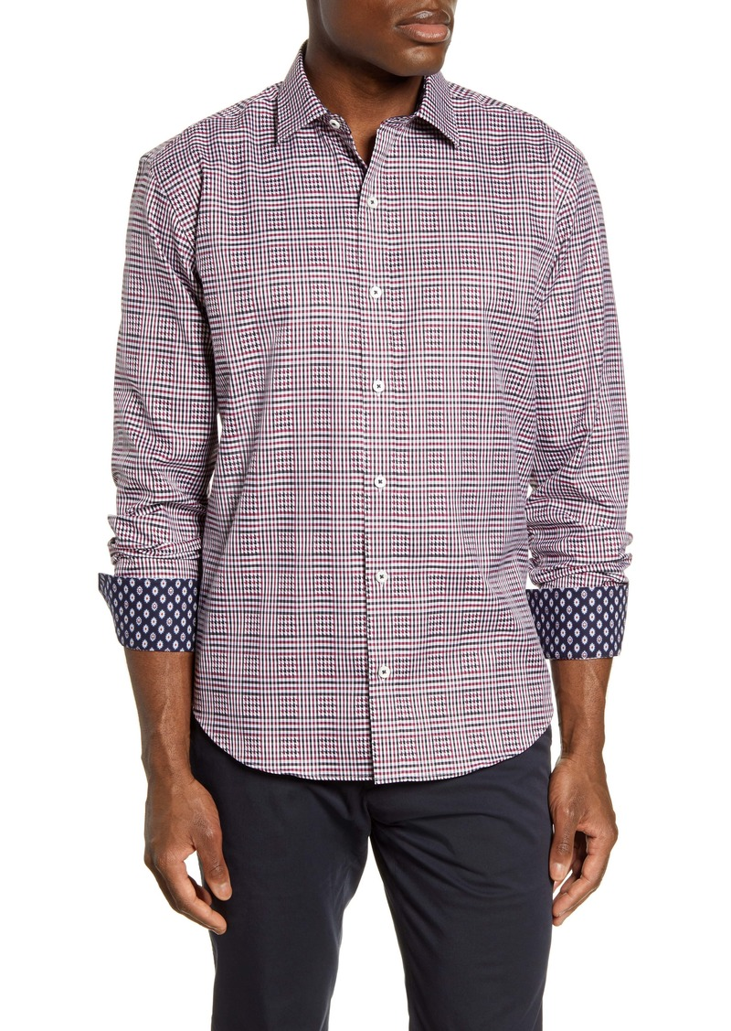 Bugatchi Shaped Fit Check Button-Up Shirt