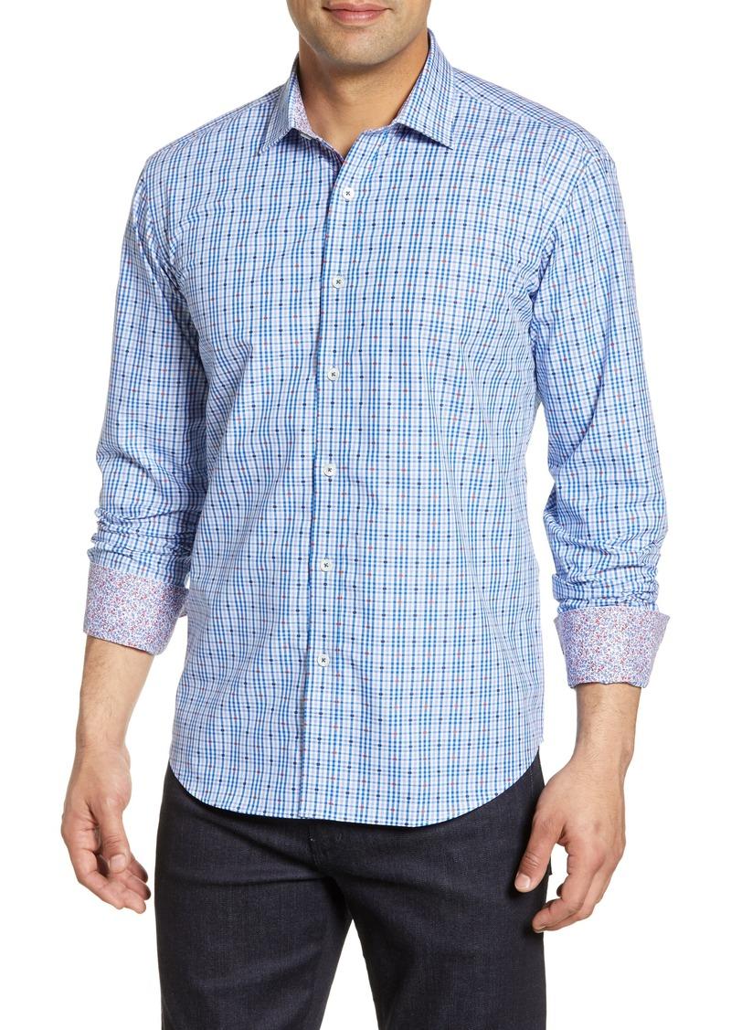 Bugatchi Shaped Fit Check Shirt