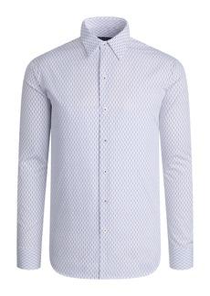 Bugatchi Shaped Fit Dash Print Button-Up Shirt