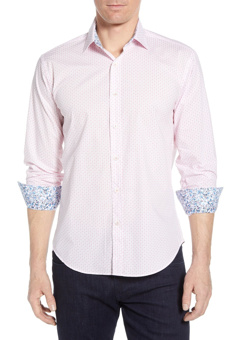 Bugatchi Shaped Fit Dot Cotton Shirt