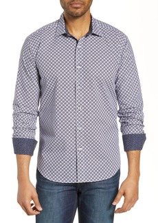 Bugatchi Shaped Fit Dot Cotton Shirt