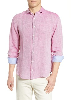 Bugatchi Shaped Fit Linen Shirt