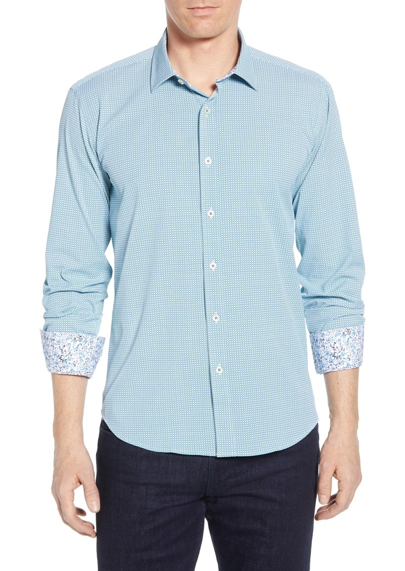 Bugatchi Shaped Fit Performance Sport Shirt