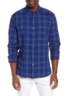 Bugatchi Shaped Fit Plaid Cotton Sport Shirt