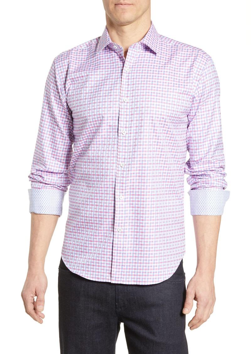 Bugatchi Shaped Fit Print Cotton Shirt