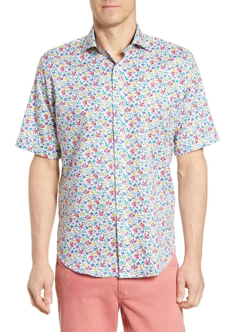 Bugatchi Classic Fit Print Cotton Sport Shirt