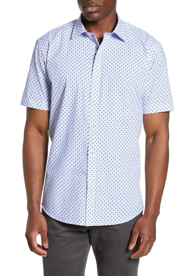 Bugatchi Shaped Fit Print Shirt