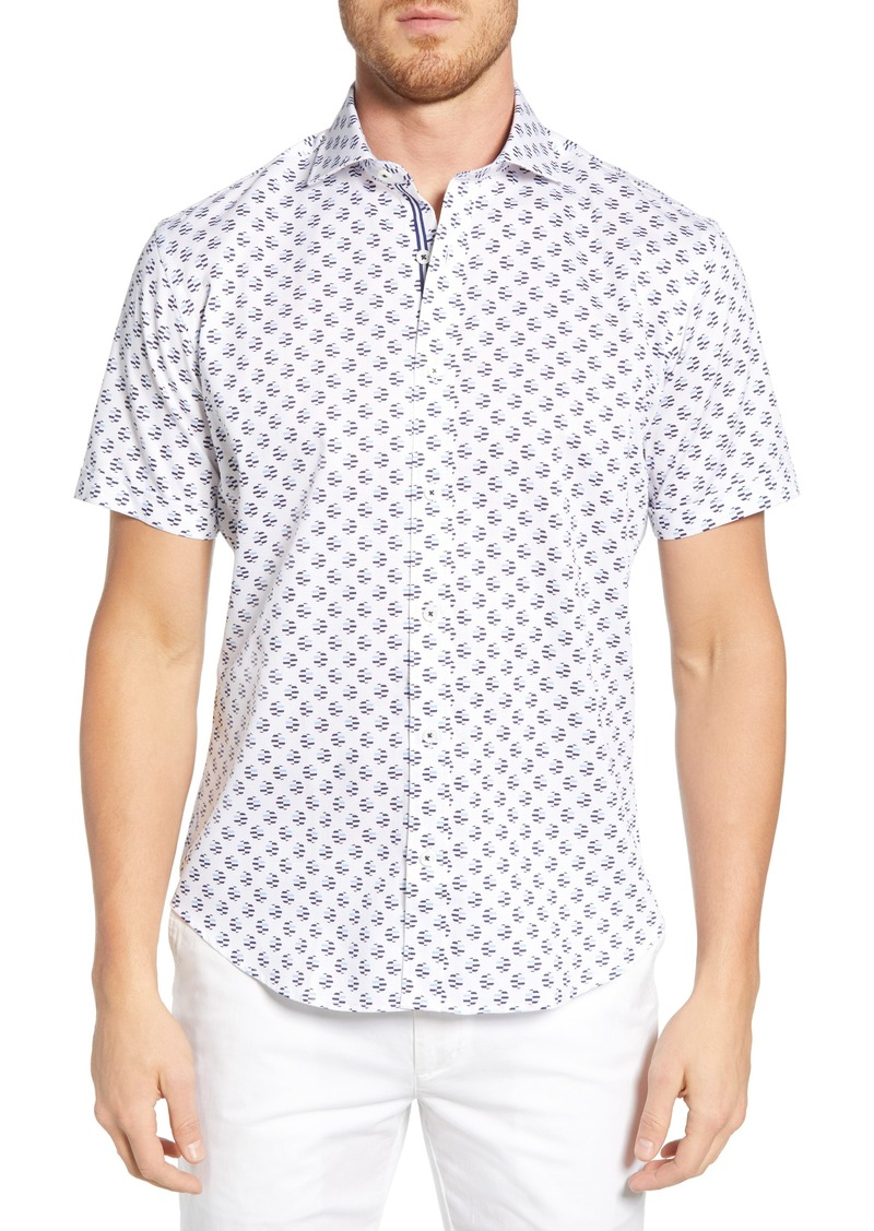Bugatchi Shaped Fit Print Shirt