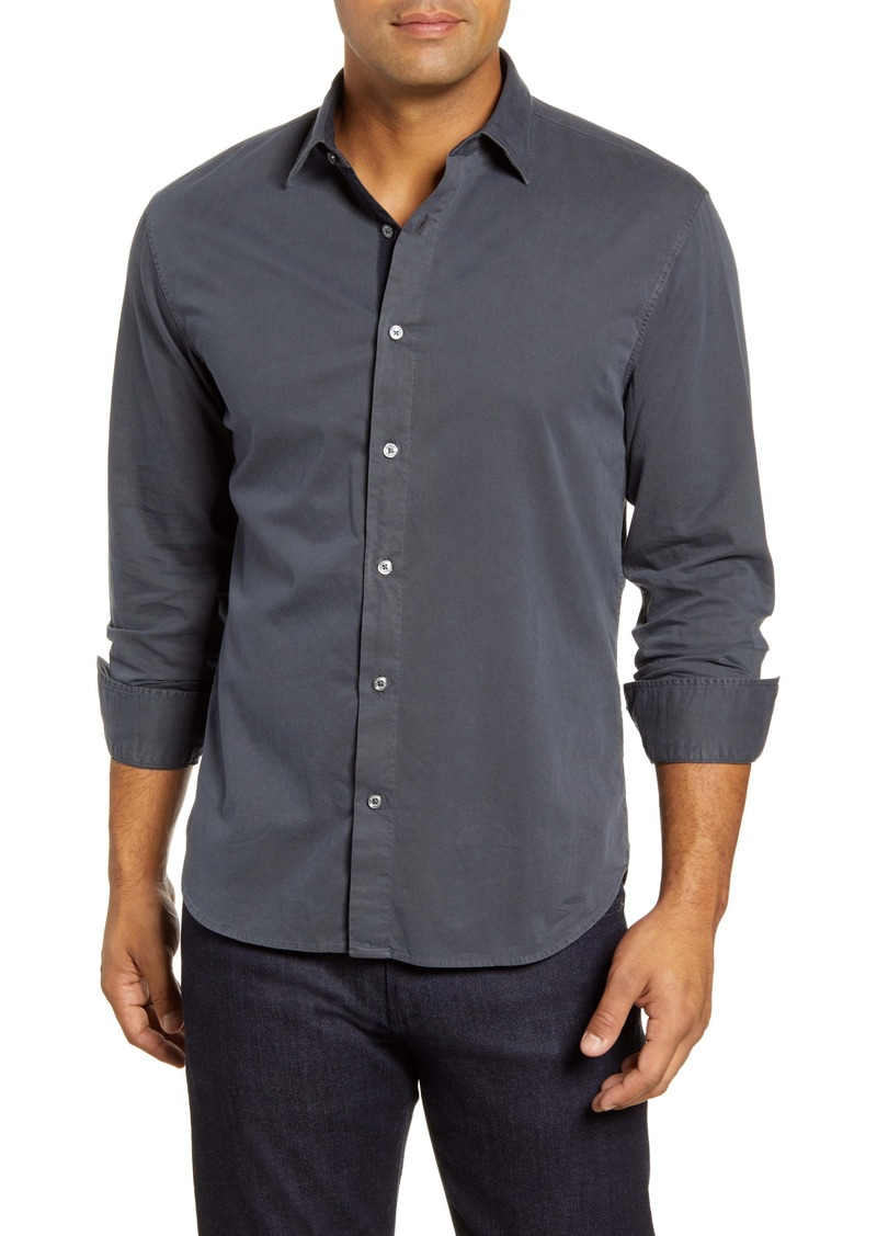 Bugatchi Shaped Fit Solid Button-Up Shirt