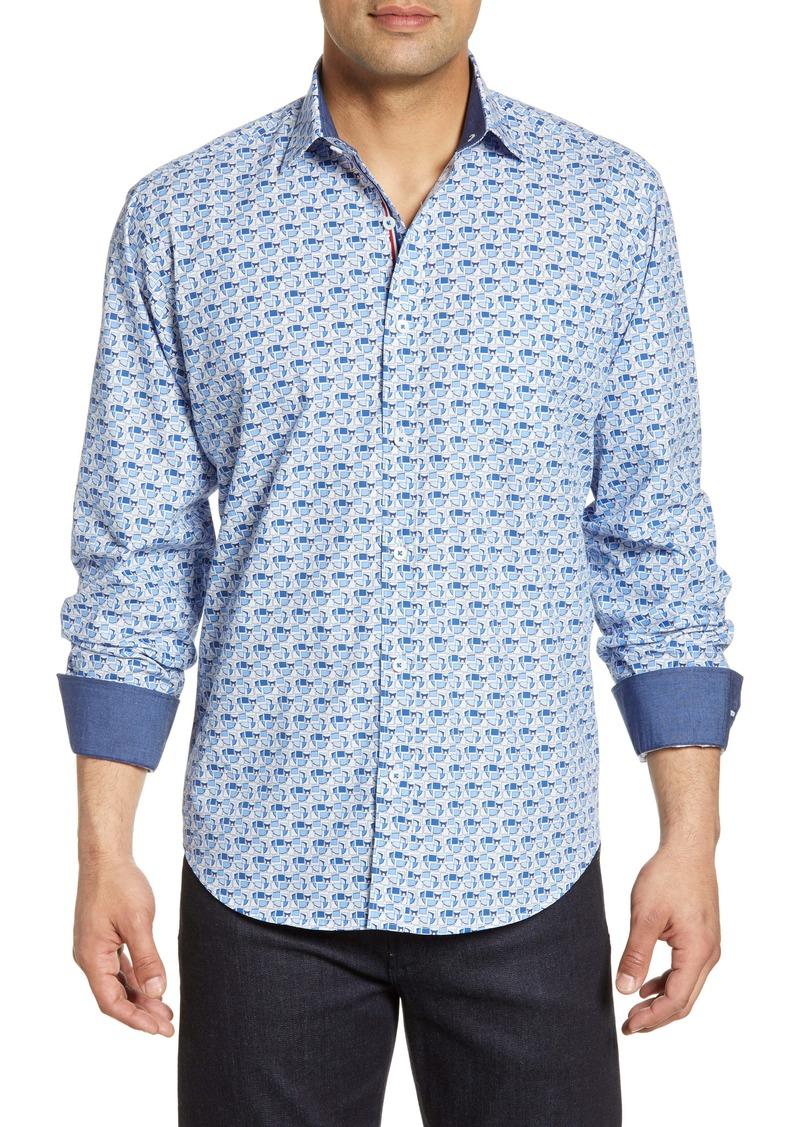 Bugatchi Sunglasses Print Shirt