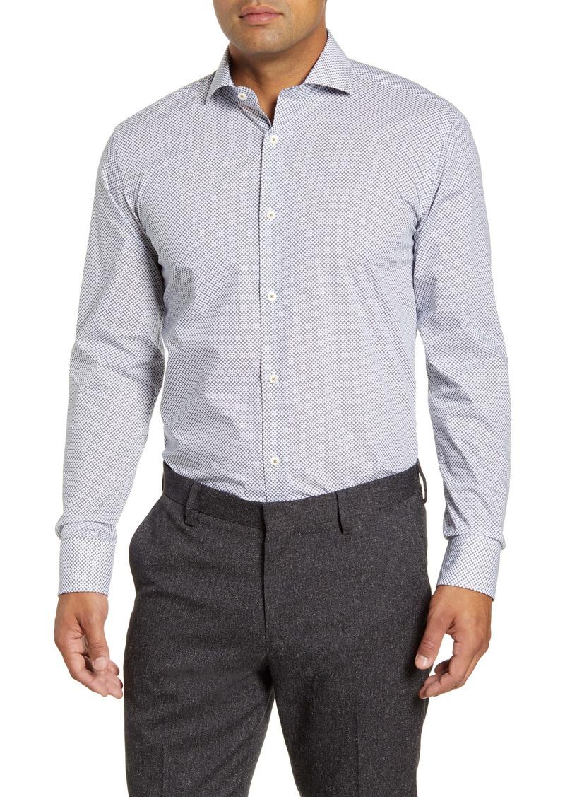 Bugatchi Trim Fit Diamond Dress Shirt