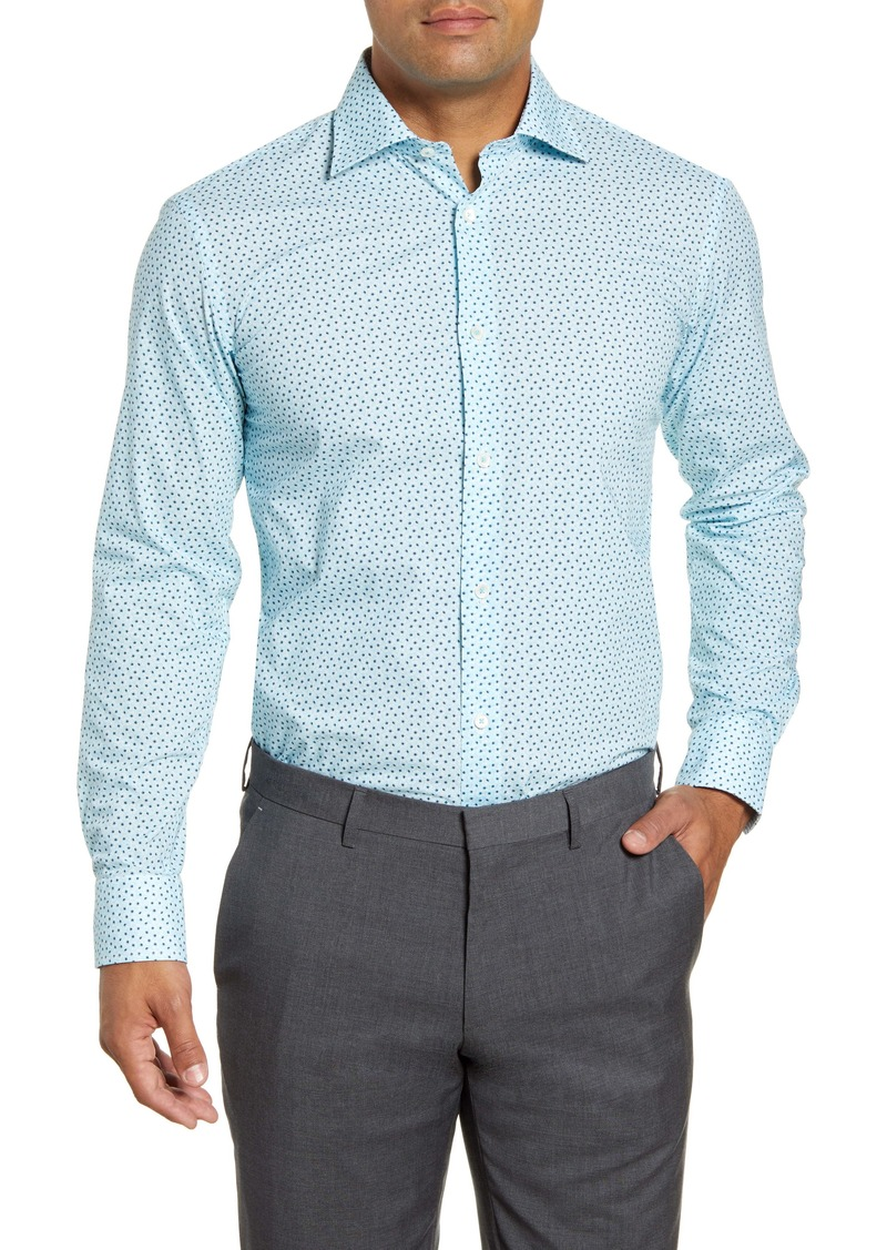 Bugatchi Trim Fit Pattern Dress Shirt