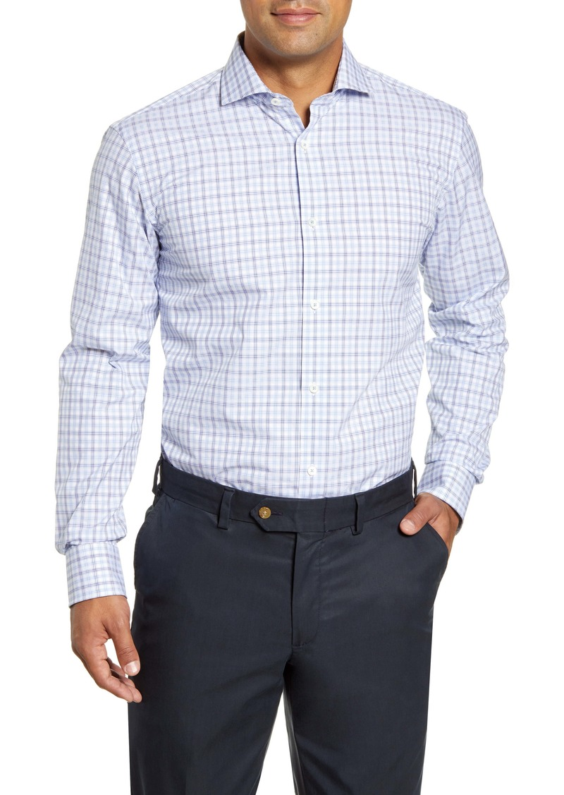 Bugatchi Trim Fit Pattern Dress Shirt