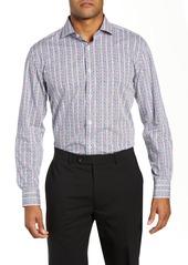 Bugatchi Trim Fit Stripe Dress Shirt