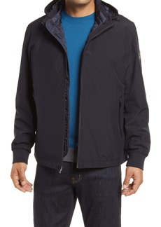 Bugatchi Water Repellent Hooded Jacket