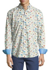 Bugatchi Classic-Fit Musical Birds Sport Shirt
