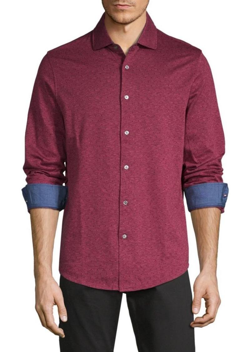 Bugatchi Dotted Long-Sleeve Shirt