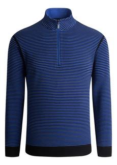 Men's Bugatchi Cotton Blend Quarter Zip Pullover