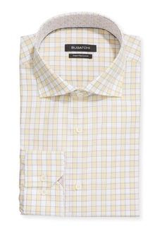 Bugatchi Men's Check Print Modern Fit Dress Shirt