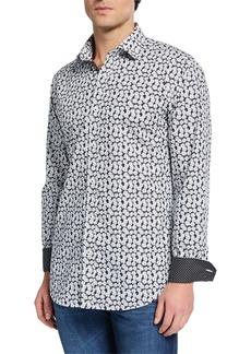 Bugatchi Men's Floral-Print Sports Shirt