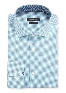 Bugatchi Men's Patterned Dress Shirt w/ Contrast Reverse