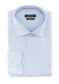 Bugatchi Men's Modern Fit Dot-Print Dress Shirt