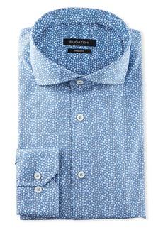 Bugatchi Men's Modern-Fit Mini-Floral Dress Shirt