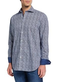 Bugatchi Men's Shaped-Fit Printed Shirt