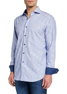 Bugatchi Men's Classic Fit Printed Woven Shirt