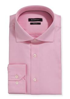 Bugatchi Men's Modern-Fit Textured Poplin Dress Shirt